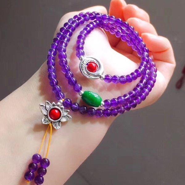 画像1: 紫水晶・ブレスレッド (1)