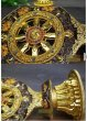 画像4: チベット密教法具合金法輪 高さ:約18cm (4)