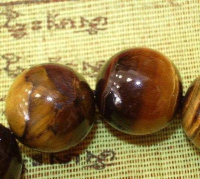 画像1: 腕輪念珠・虎目石(タイガーアイ)